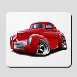 1941 Willys Red Car Mousepad