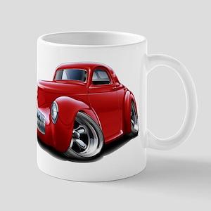 1941 Willys Red Car Mug