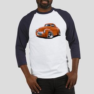 1941 Willys Orange Car Baseball Jersey