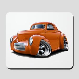1941 Willys Orange Car Mousepad