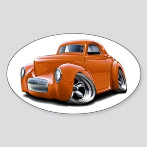 1941 Willys Orange Car Sticker (Oval)