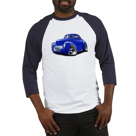 1941 Willys Blue Car Baseball Jersey
