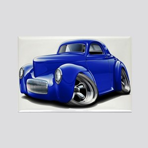 1941 Willys Blue Car Rectangle Magnet