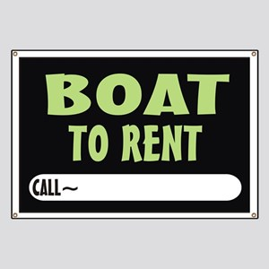 Boat to rent Banner