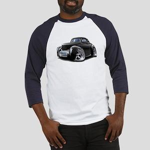 1941 Willys Black Car Baseball Jersey