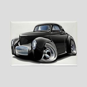 1941 Willys Black Car Rectangle Magnet