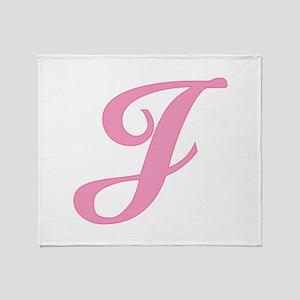 J initial Throw Blanket