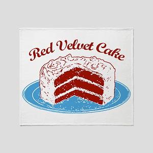 Retro Red Velvet Cake Throw Blanket