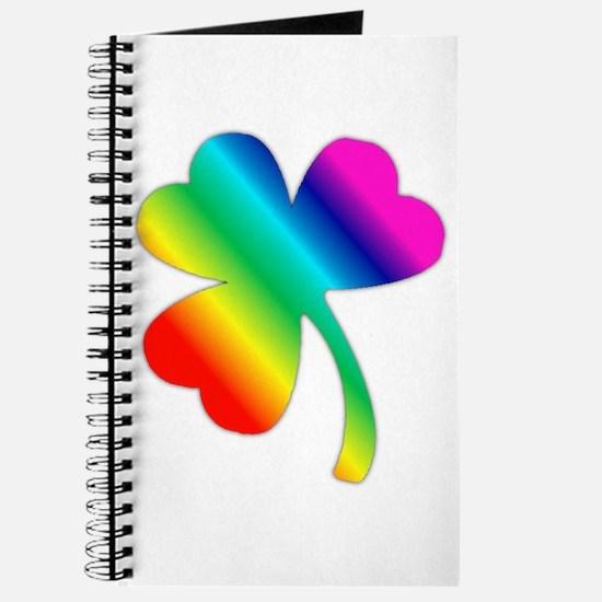 St Pat's Day Rainbow Shamrock Journal