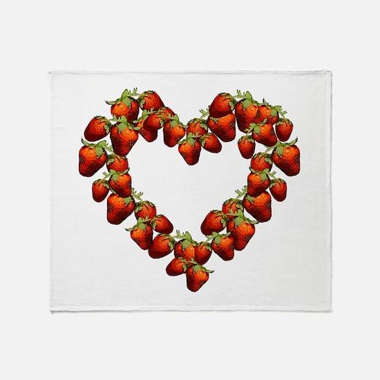 Strawberry Heart Throw Blanket