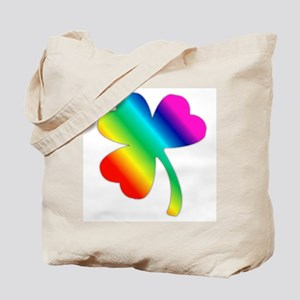 St Pat's Day Rainbow Shamrock Tote Bag