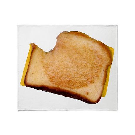Plain Grilled Cheese Sandwich Throw Blanket