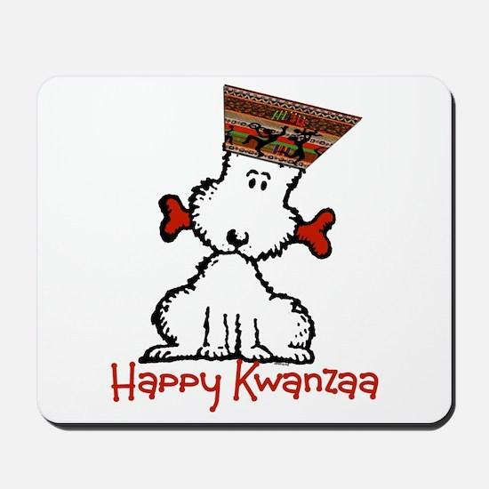 Dog & Bone Kwanzaa Mousepad