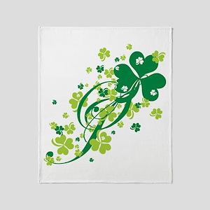 Shamrocks and Swirls Throw Blanket