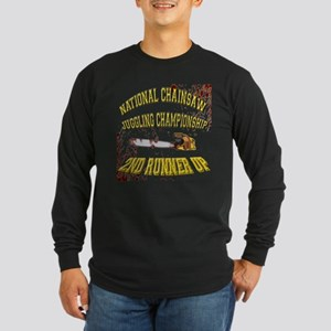 Chainsaw Juggling Long Sleeve Dark T-Shirt