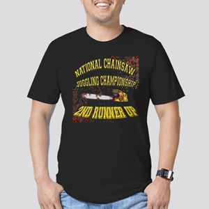 Chainsaw Juggling Men's Fitted T-Shirt (dark)