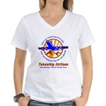 TakaWhip Airlines Women's V-Neck T-Shirt