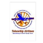 TakaWhip Airlines Postcards (Package of 8)