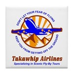TakaWhip Airlines Tile Coaster