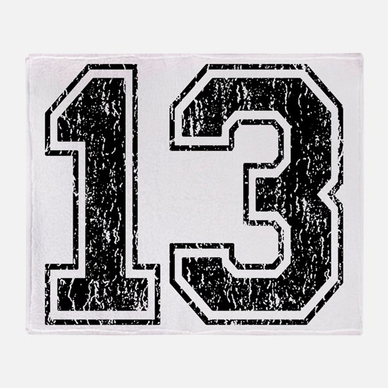 Retro 13 Number Throw Blanket