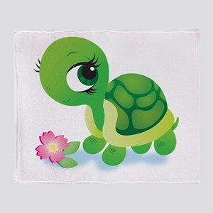 Toshi the Turtle Throw Blanket