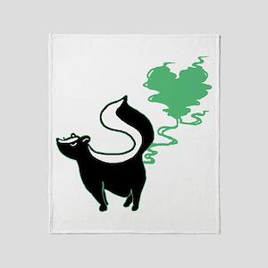 Stinky Love Skunk Throw Blanket