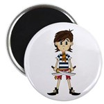 "Cute Little Pirate 2.25"" Magnet (100 pack)"