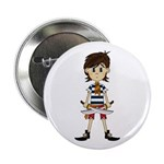 "Cute Little Pirate 2.25"" Button"