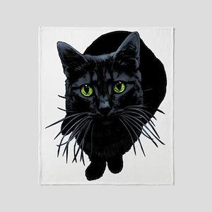 Black Cat T-shirts Throw Blanket