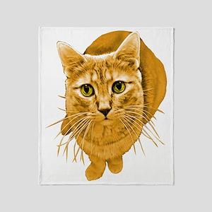Orange Cat Throw Blanket