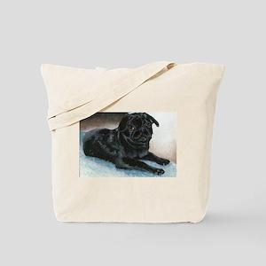 Pug Puppy Head Up Tote Bag