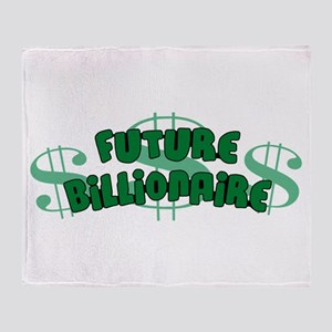 Future Billionaire Throw Blanket
