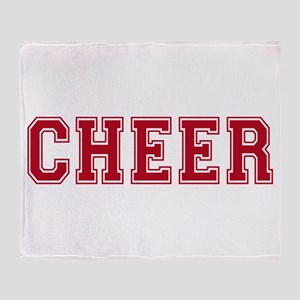 Cheer In Red Text Throw Blanket