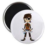 "Little Eyepatch Pirate 2.25"" Magnet (100 pack"