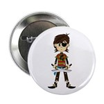 "Little Eyepatch Pirate 2.25"" Button (100 pack"
