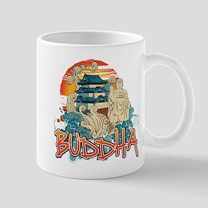 Buddha Sunset Pagoda Mug