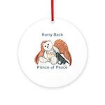 Peace Angel Bear Ornament (Round)