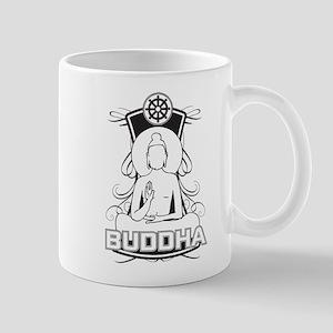 Buddha and the Dharma Wheel Mug