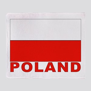Poland Flag Throw Blanket