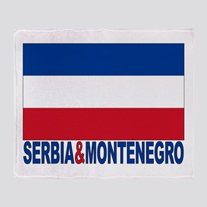 Serbia and Montenegro Flag Throw Blanket