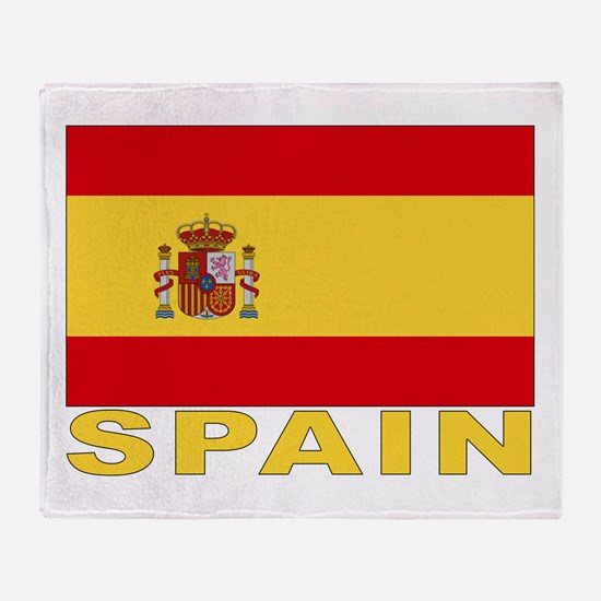 Spain Flag Throw Blanket