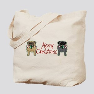 Candy Cane Fawn and Black Tote Bag