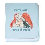 Peace Angel Bear baby blanket