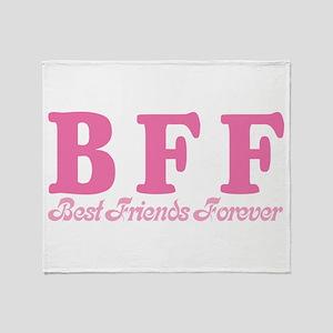 Best Friends Forever BFF Throw Blanket