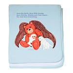 Angel Teddy Bear baby blanket