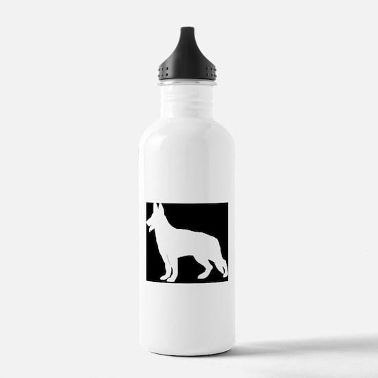 White German Shepherd Water Bottle
