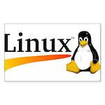 Linux Logo Sticker (Rectangle 50 pk)