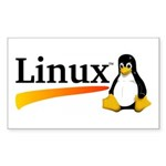 Linux Logo Sticker (Rectangle 10 pk)