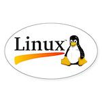 Linux Logo Sticker (Oval 10 pk)