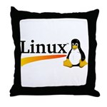 Linux Logo Throw Pillow
